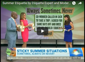 Summer Etiquette on TODAY